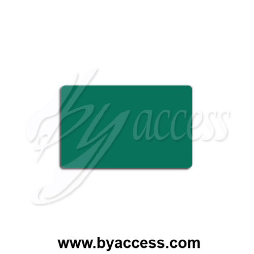 Tarjetas pvc laminadas, grosor 0,76mm color verde 568 (Pack 500 ud.)