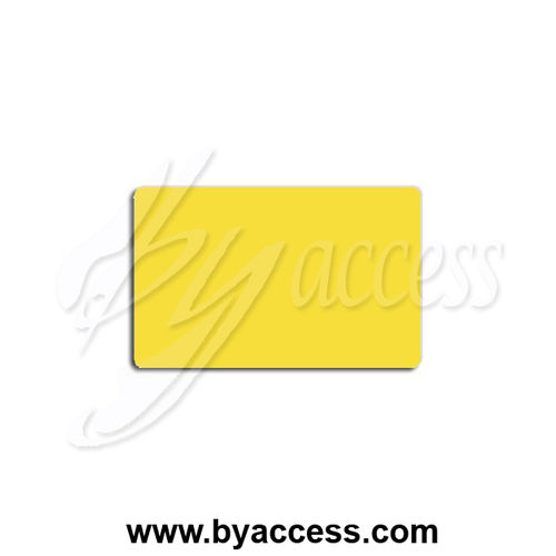 Tarjetas pvc laminadas, grosor 0,76mm color amarillo 115 (Pack 500 ud.)