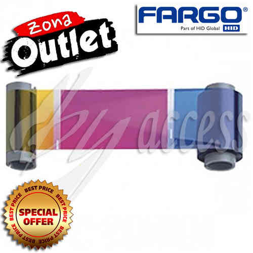 Fargo YMCKH: HDP Full-Color Ribbon 400 impresiones